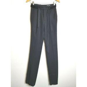 Tom Ford Pants Straight Black DESIGNER 0 XS belt